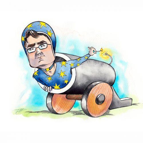 Foto af Karikatur Brian Mikkelsen af Terese Andersen