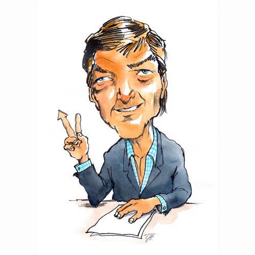 Foto af Karikatur Claus Borre af Terese Andersen