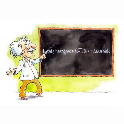 Foto af Satire Albert Einstein af Terese Andersen