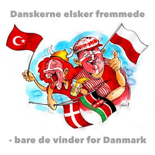 Foto af Satire Danskere elsker fremmede af Terese Andersen