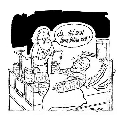 Foto af Satire Løbes Væk af Terese Andersen