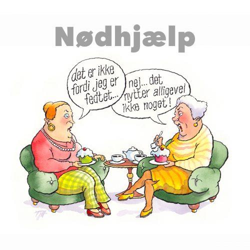 Foto af Satire Nødhjælp af Terese Andersen