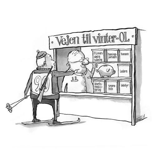 Foto af Satire Vejen til Vinter OL af Terese Andersen