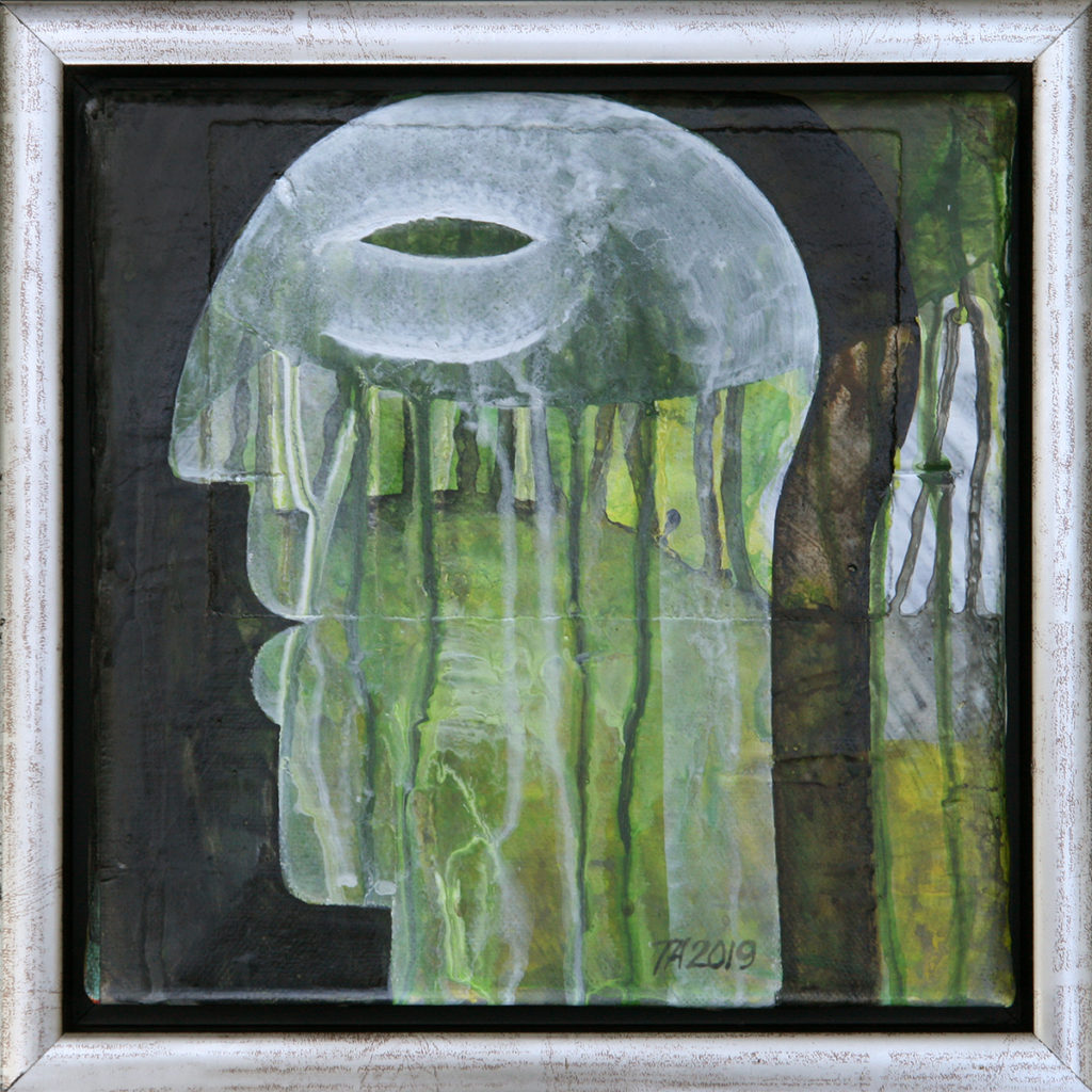 Foto af Terese Andersen Maleri 20x20 cm Green