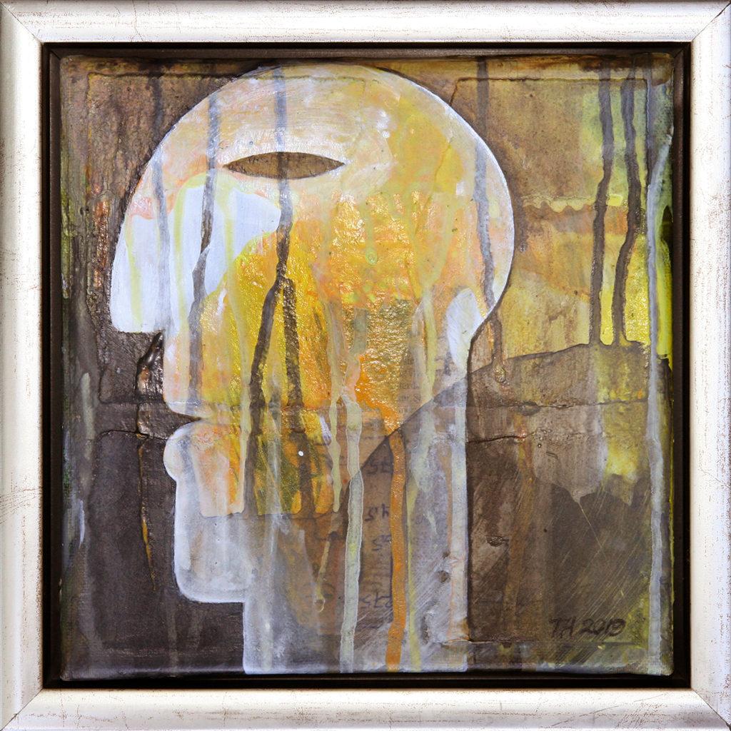 Foto af Terese Andersen Maleri 20x20 cm Yellow
