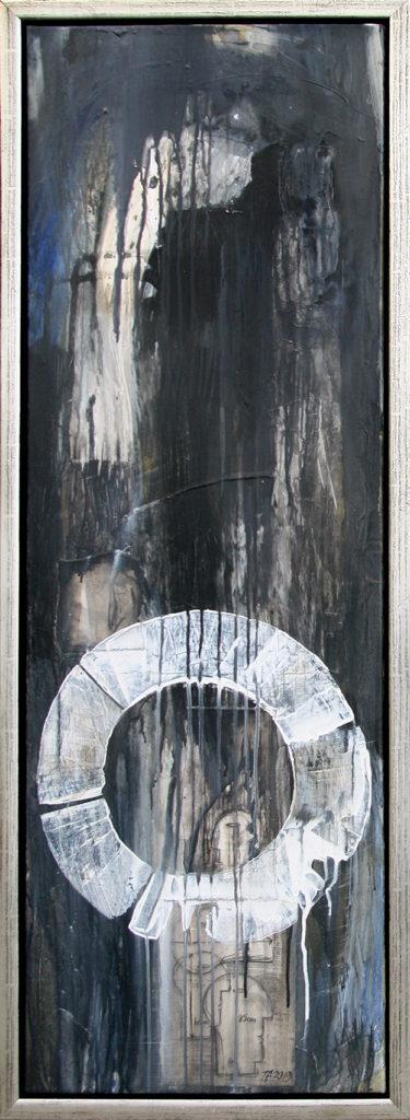 Foto af Terese Andersen Maleri 120x40 cm Full Moon