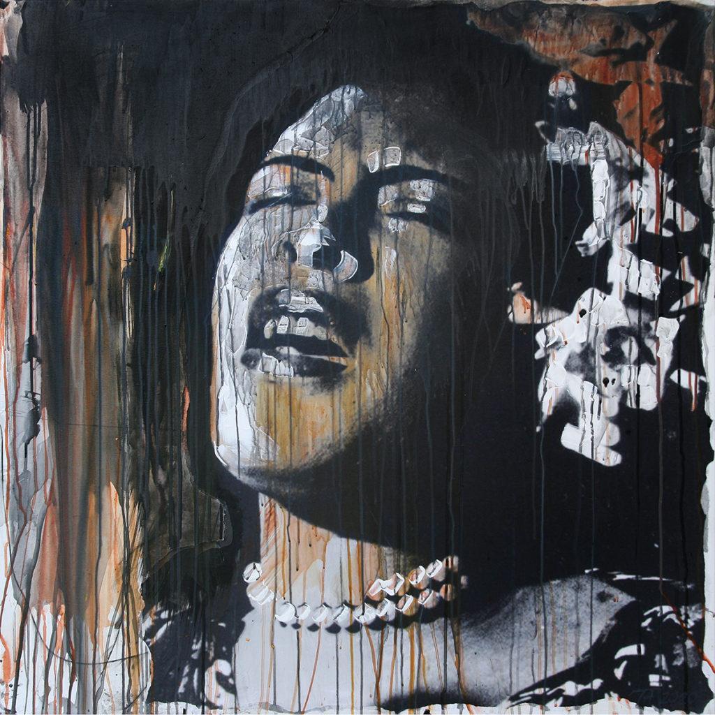 Foto af Terese Andersen Painting 100x100cm Billie Holiday