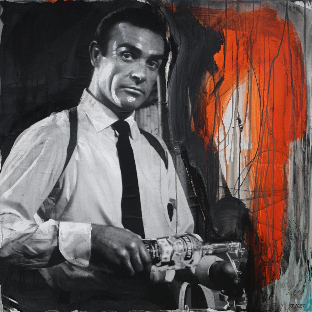 Foto af Terese Andersen Painting 100x100cm James Bond 1