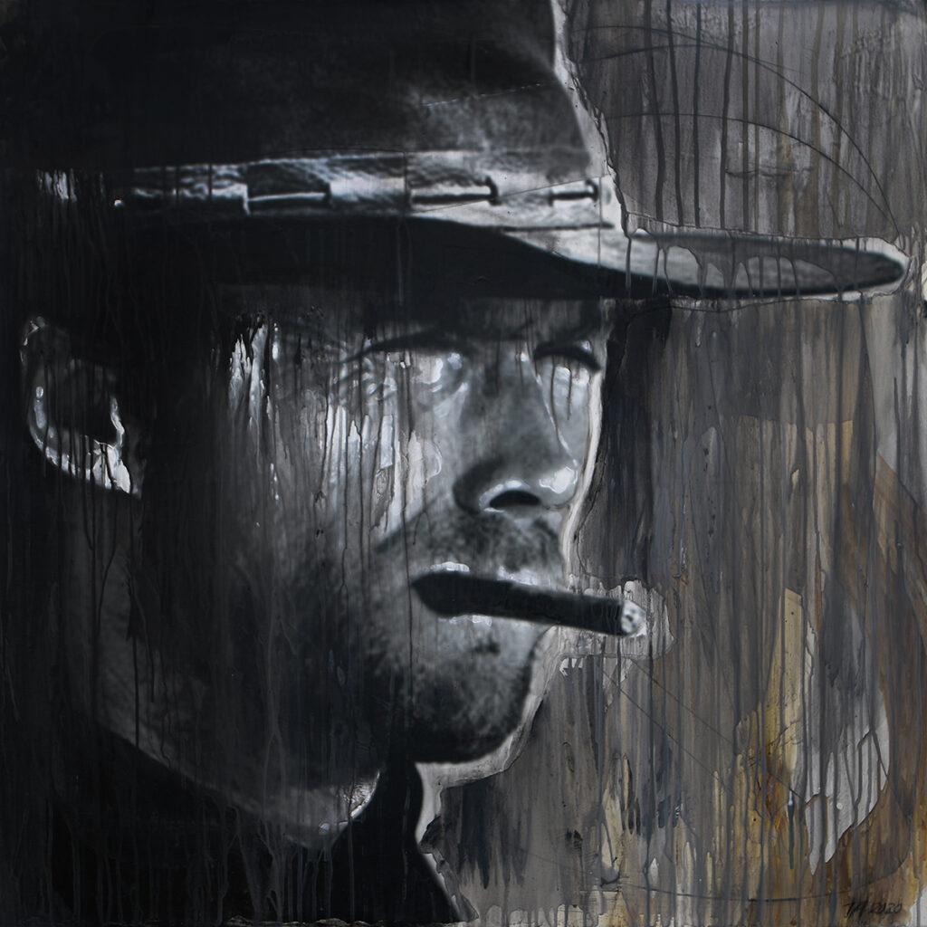 Foto af Terese Andersen Painting 100x100cm The Good The Bad The Ugly 2