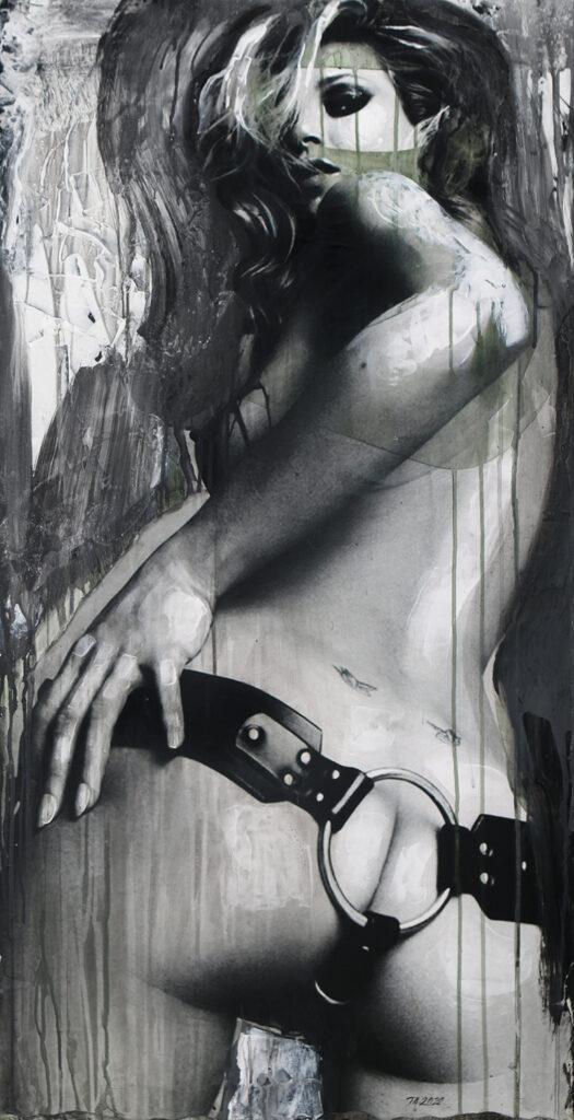 Foto af Terese Andersen Painting 115x60cm Kate Moss 8