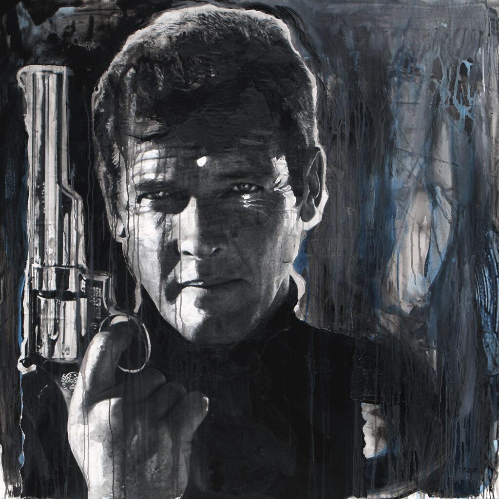 Foto af Terese Andersen Painting 130x130cm James Bond 2