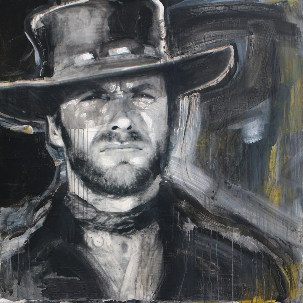 Foto af Terese Andersen Painting 130x130cm The Good The Bad The Ugly 1