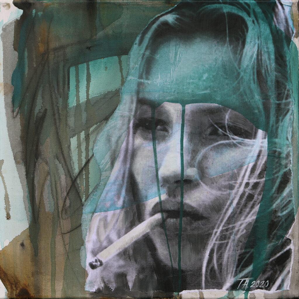 Foto af Terese Andersen Painting 40x40cm Kate Moss 2