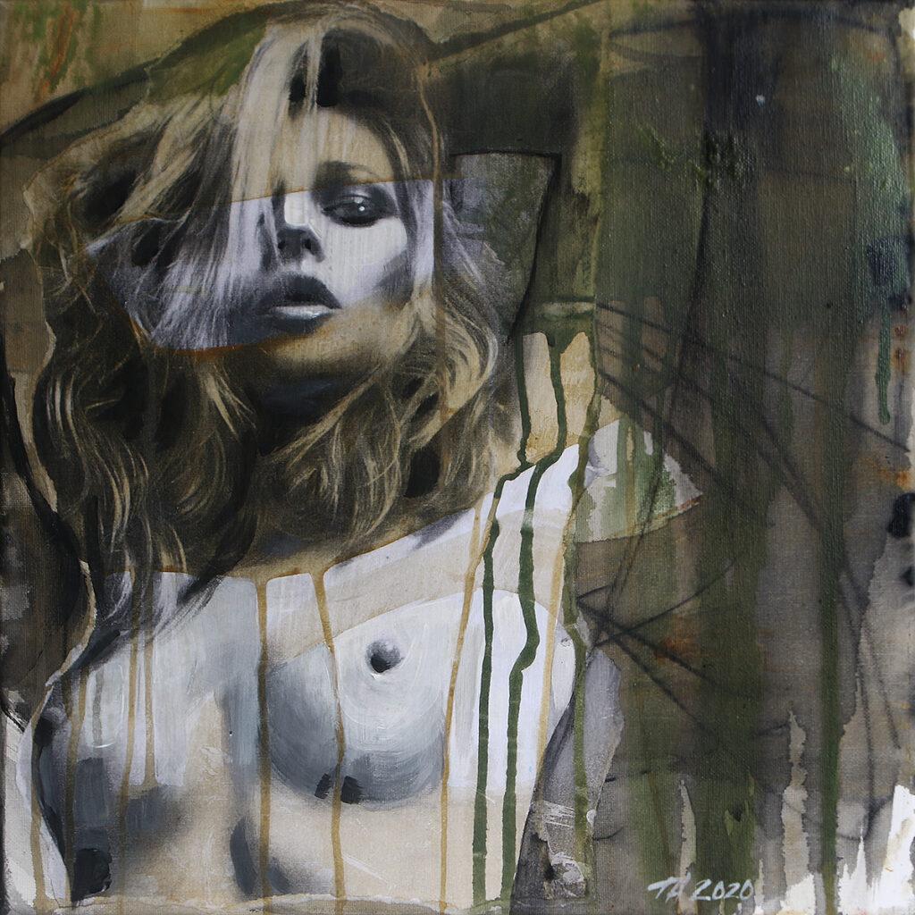 Foto af Terese Andersen Painting 40x40cm Kate Moss 4