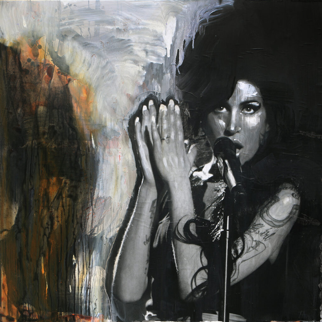 Foto af Terese Andersen Painting 130x130cm Amy Winehouse 1