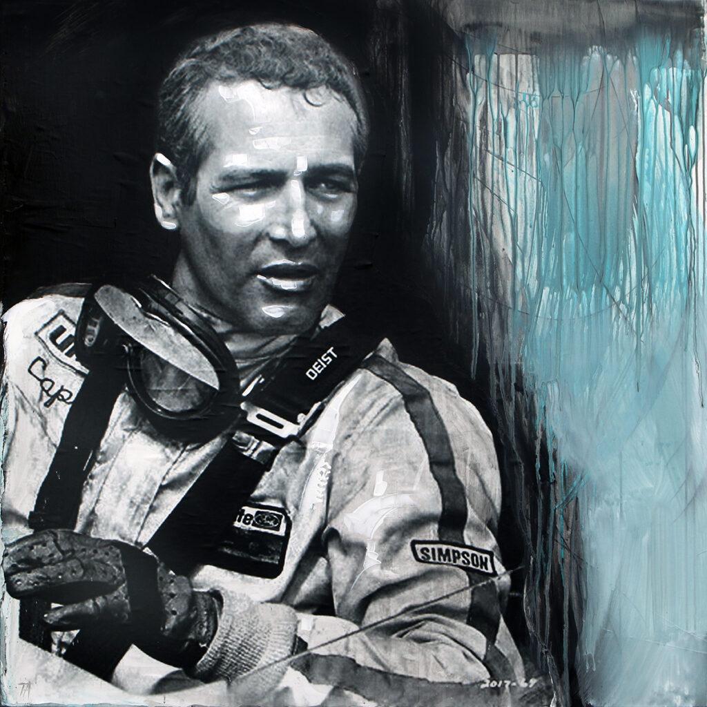 Foto af Terese Andersen Painting 120x120cm Paul Newman 1