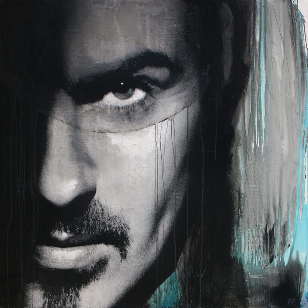 Foto af Terese Andersen Painting 130x130cm George Michael 1