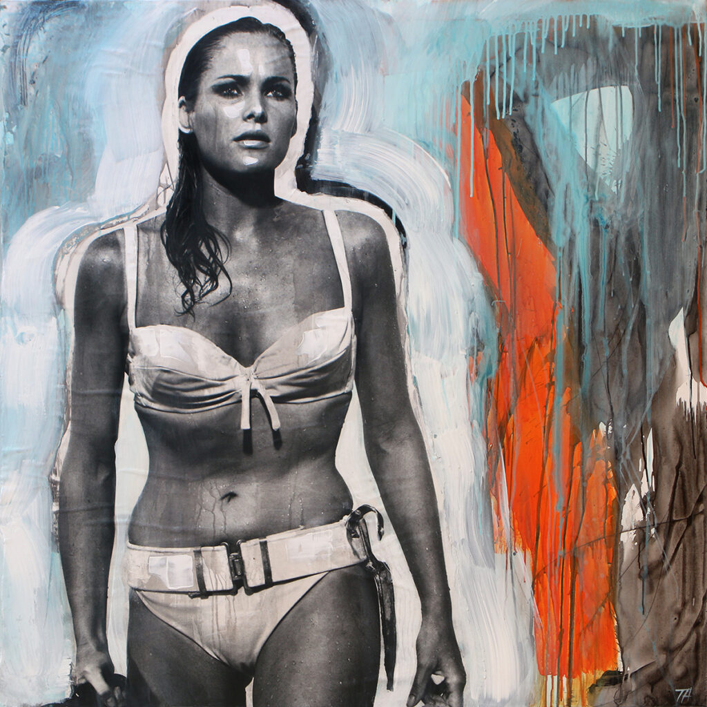 Foto af Terese Andersen Painting 130x130cm Dr. No Ursula Andress