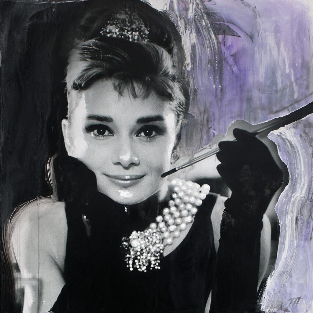 Foto af Terese Andersen Painting 100x100cm Audrey Hepburn