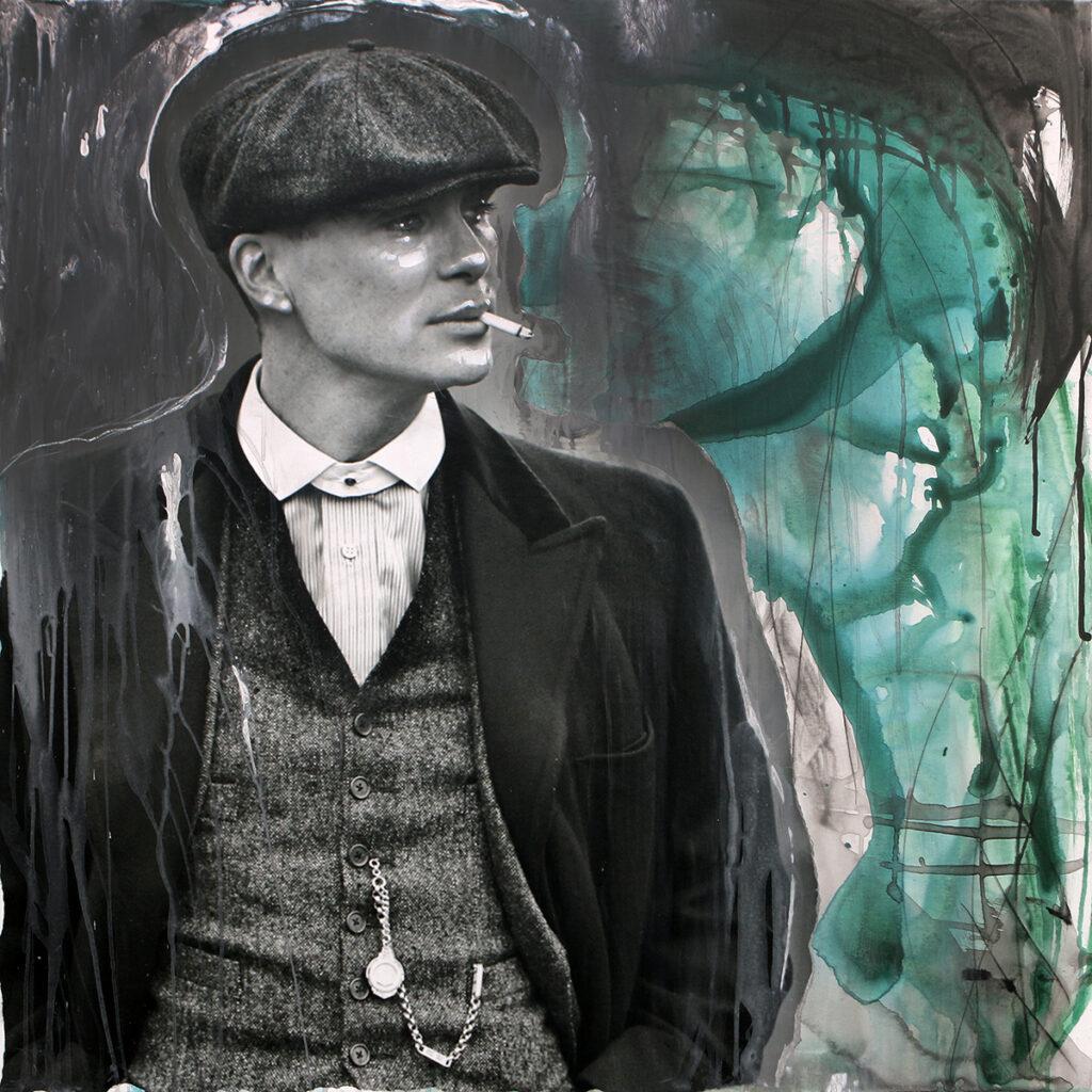 Foto af Terese Andersen Painting 100x100cm Peaky Blinders