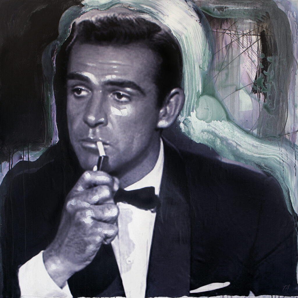 Foto af Terese Andersen Painting 120x120cm Sean Connery Dr No lighter 1