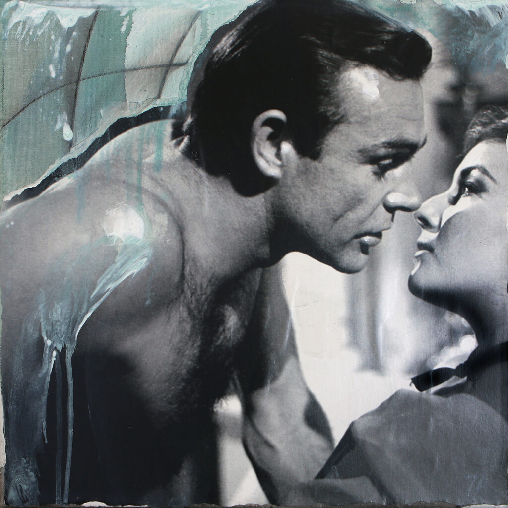 Foto af Terese Andersen Painting 40x40cm Sean Connery Daniela Bianchi From Russia With Love 1