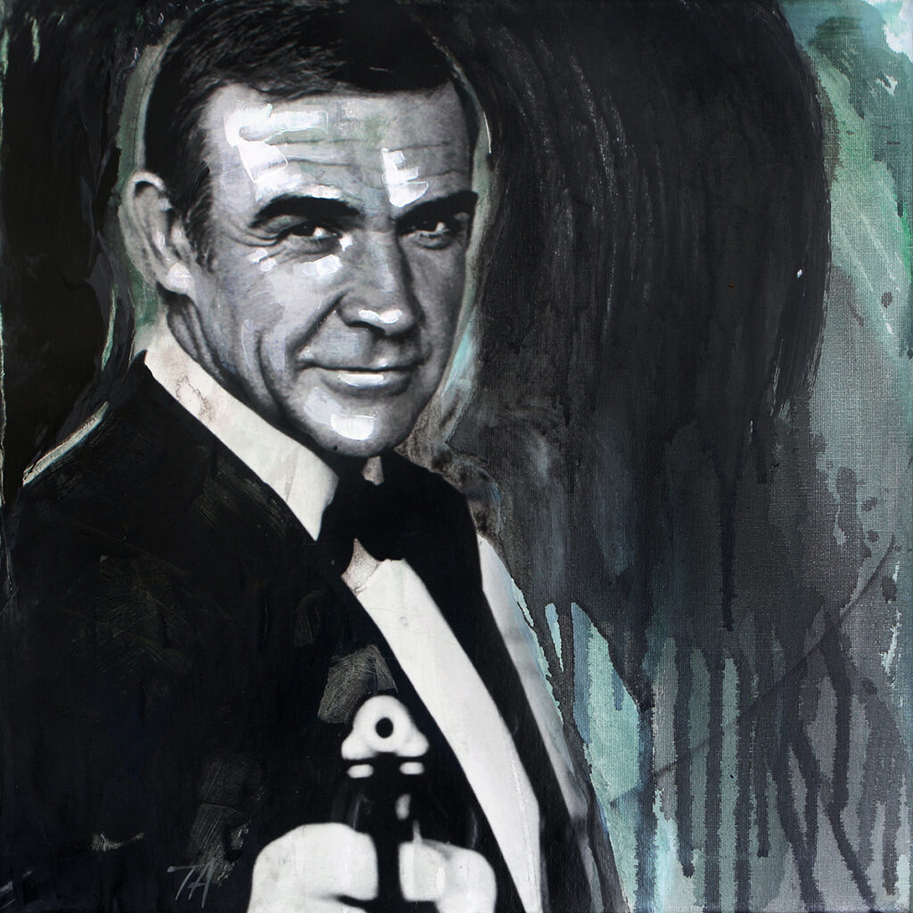 Foto af Terese Andersen Painting 40x40cm Sean Connery Never Say Never Again 1