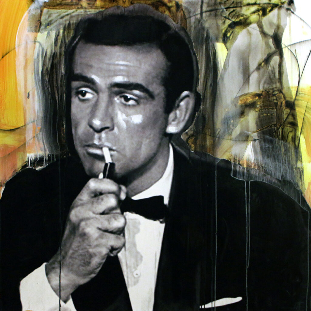 Foto af Terese Andersen Painting 100x100cm Sean Connery Dr No lighter 2