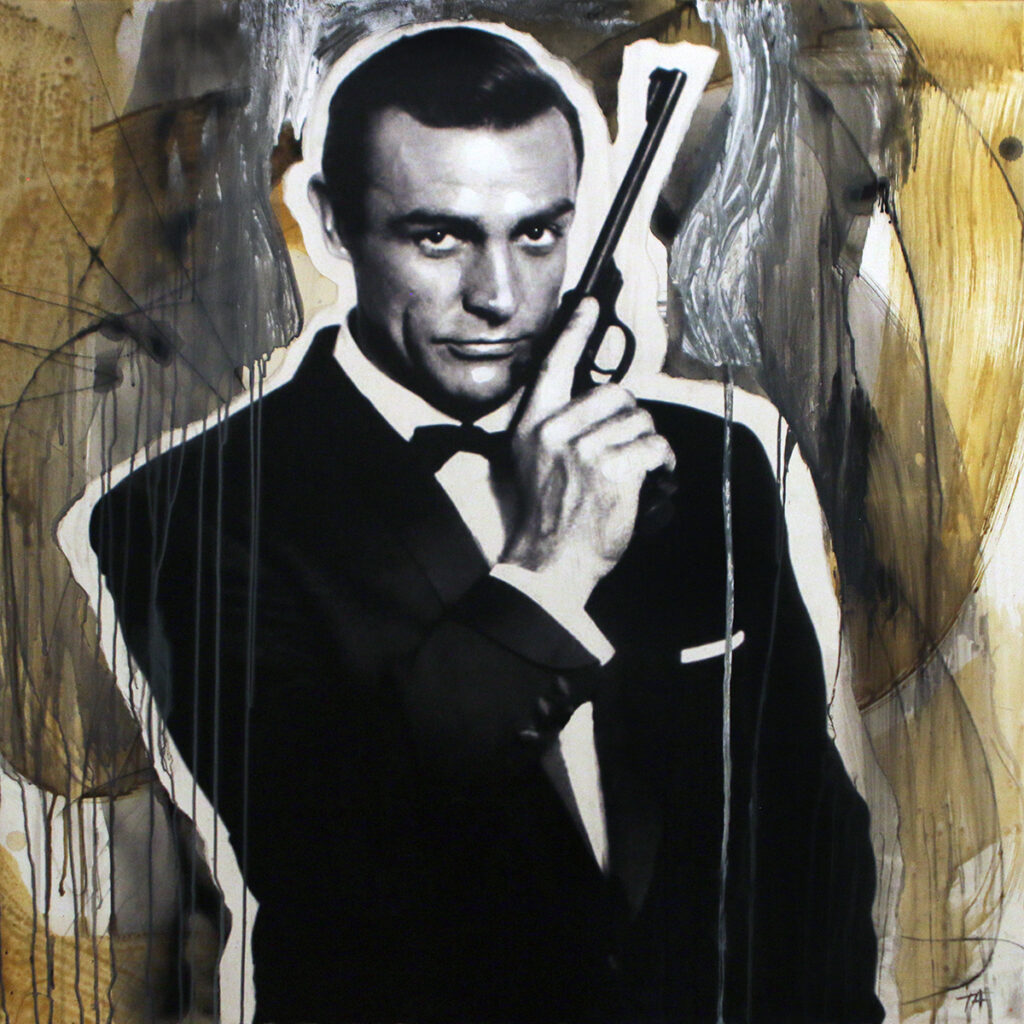 Foto af Terese Andersen Painting 100x100cm Sean Connery From Russia with love 1