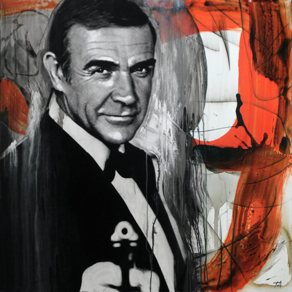 Foto af Terese Andersen Painting 100x100cm Sean Connery Never Say Never Again 2