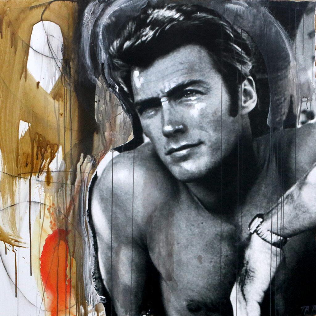 Foto af Terese Andersen Painting 130x130cm Clint Eastwood 2