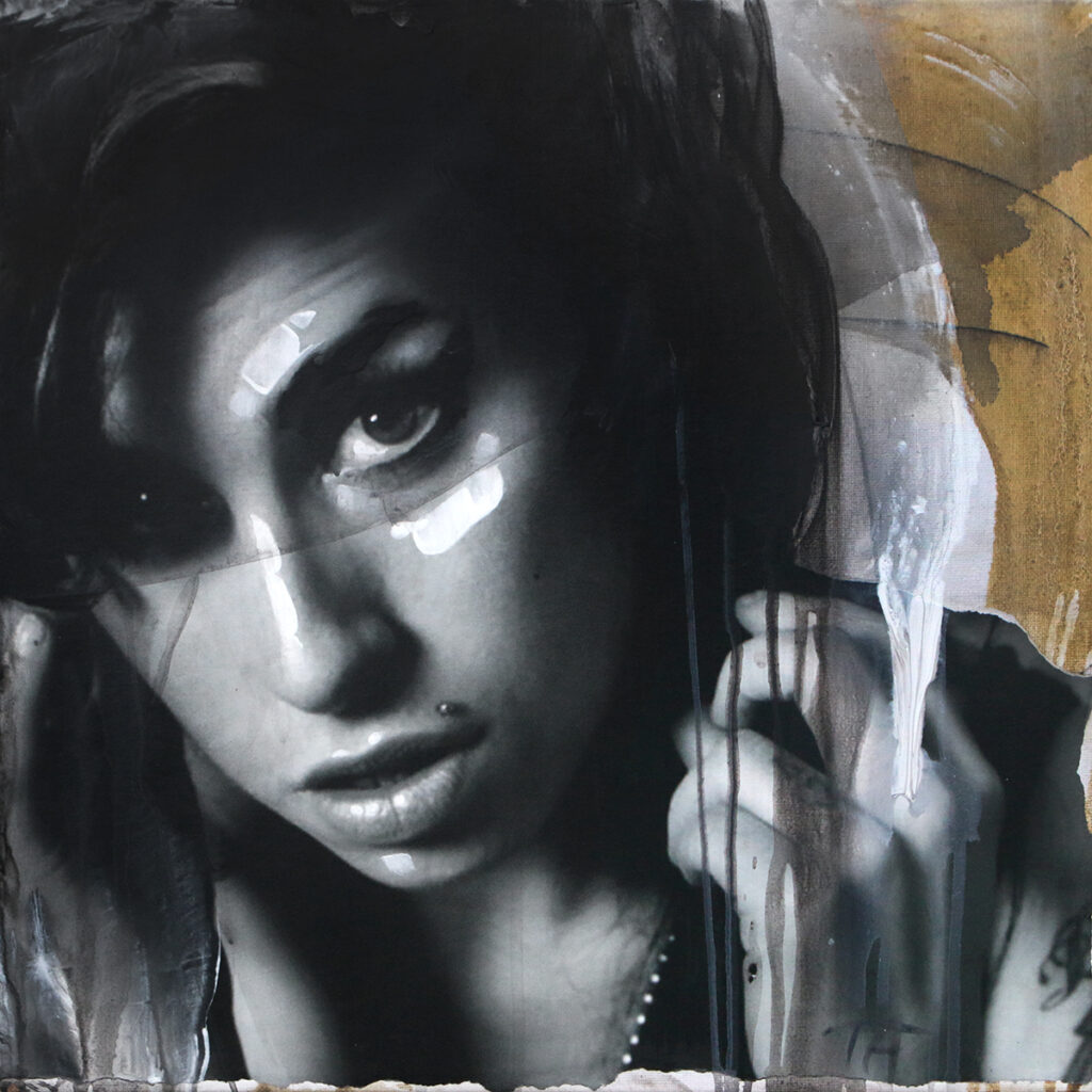Foto af Terese Andersen Painting 40x40cm Amy Winehouse 2