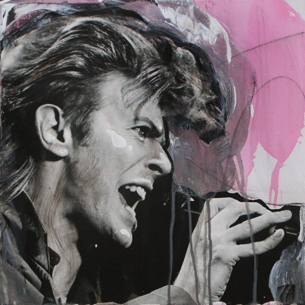 Foto af Terese Andersen Painting 40x40cm David Bowie 2