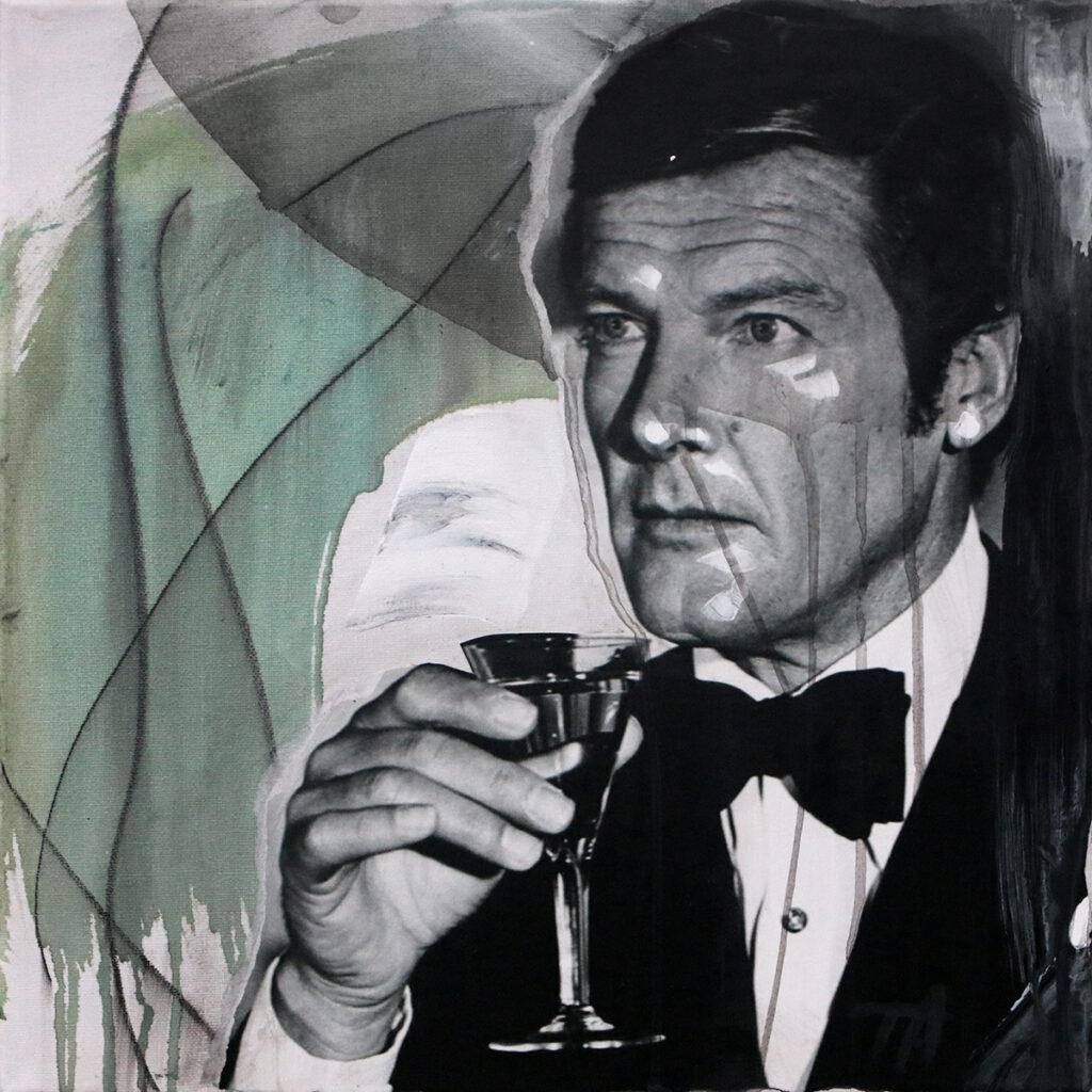 Foto af Terese Andersen Painting 40x40cm Roger Moore 1