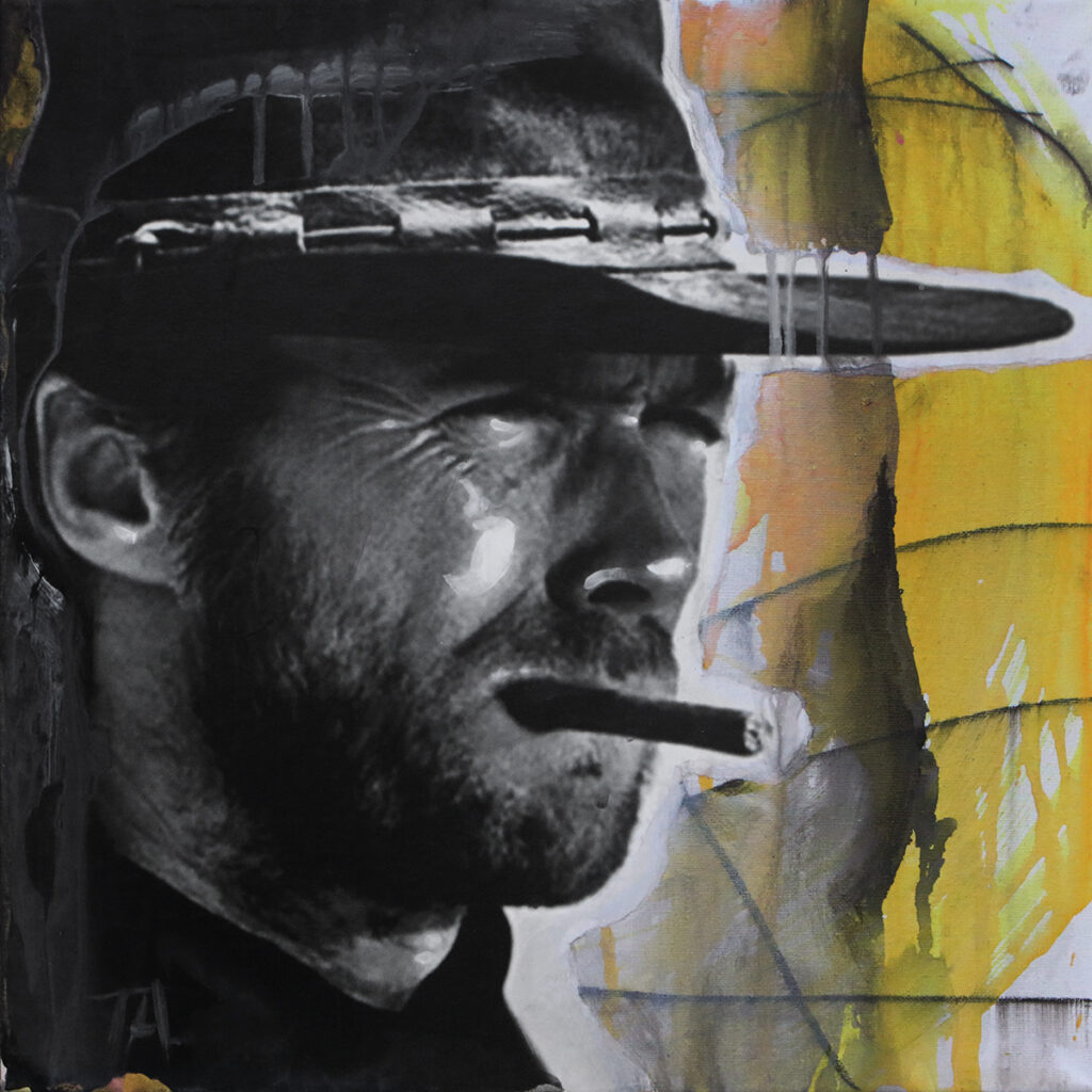 Foto af Terese Andersen Painting 40x40cm The Good The Bad The Ugly 3