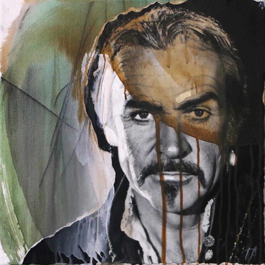 Foto af Terese Andersen Painting 40x40cm Sean Connery Highlander ll 1