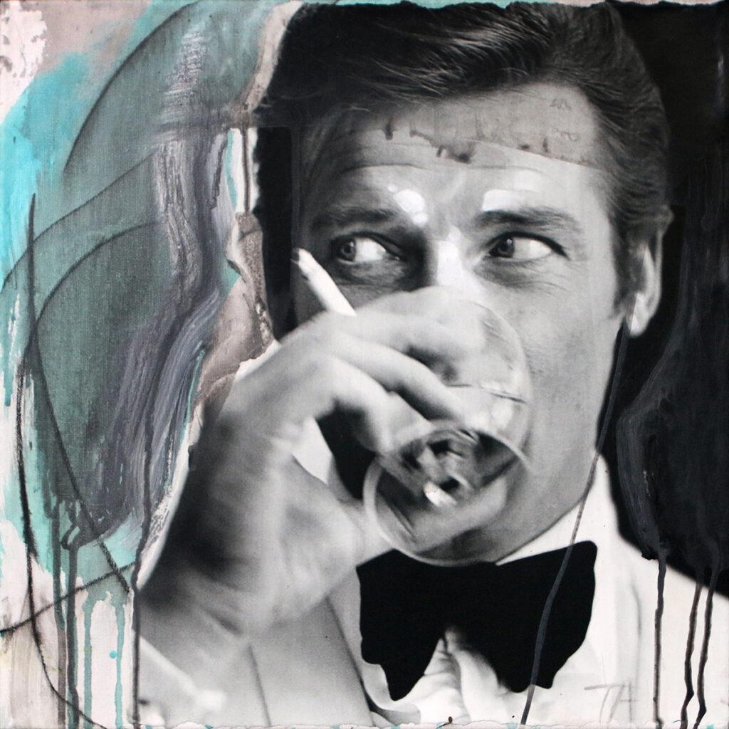 Foto af Terese Andersen Painting 40x40cm Sir Roger Moore 1