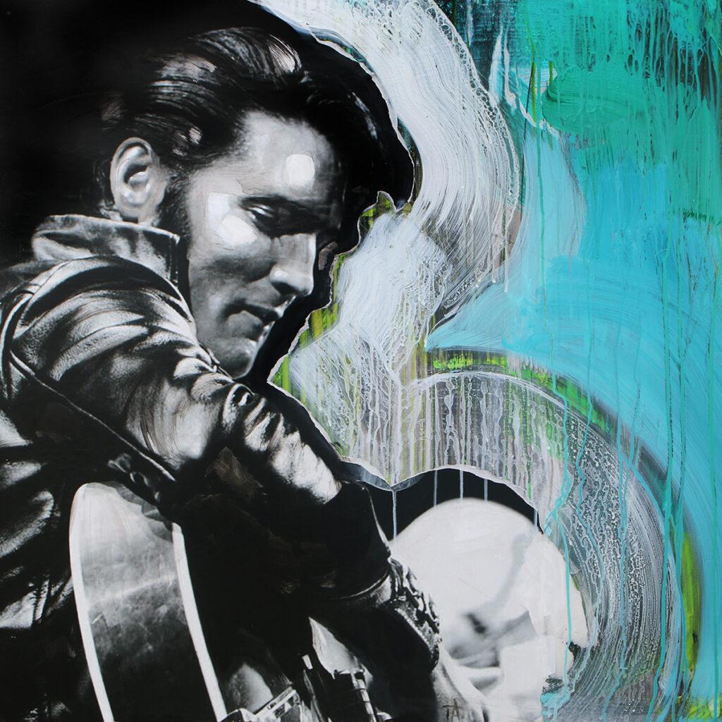 Foto af Terese Andersen Painting 100x100cm Elvis 1