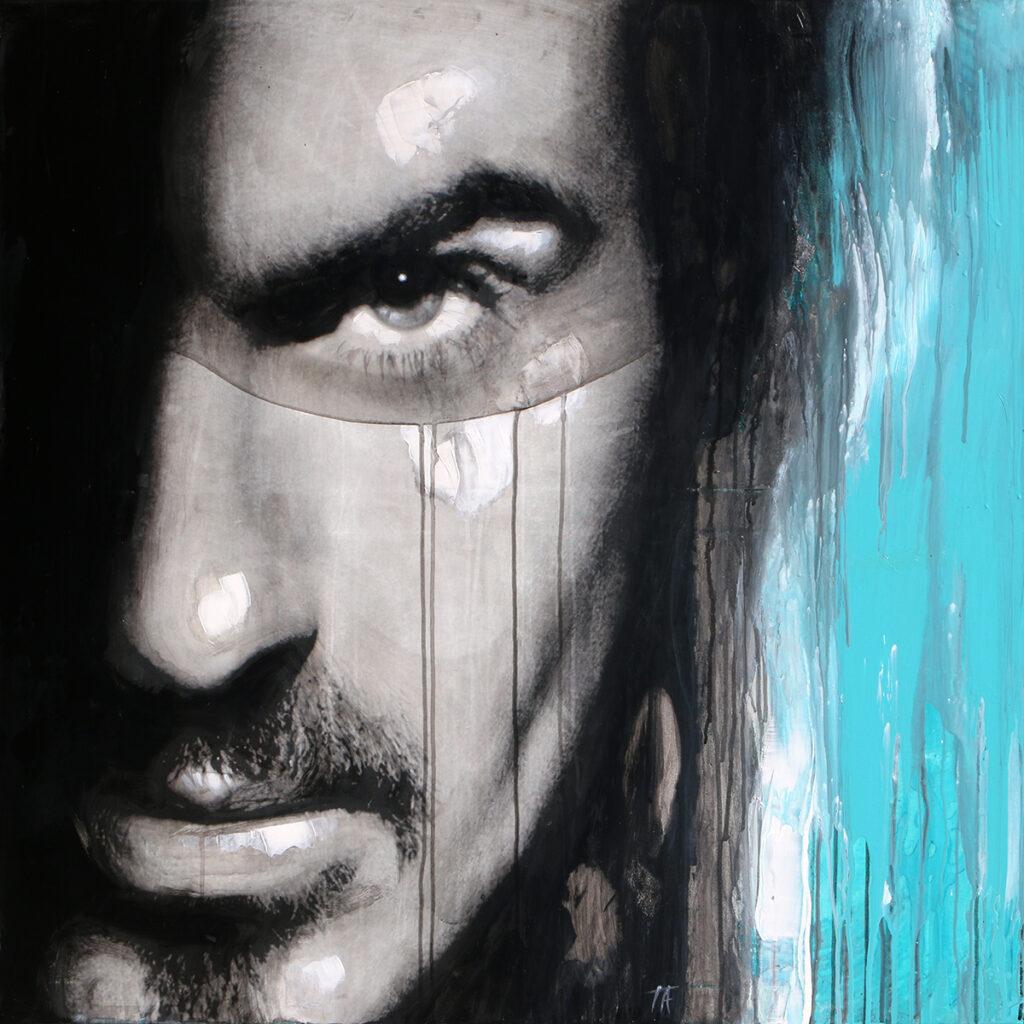 Foto af Terese Andersen Painting 100x100cm George Michael 3