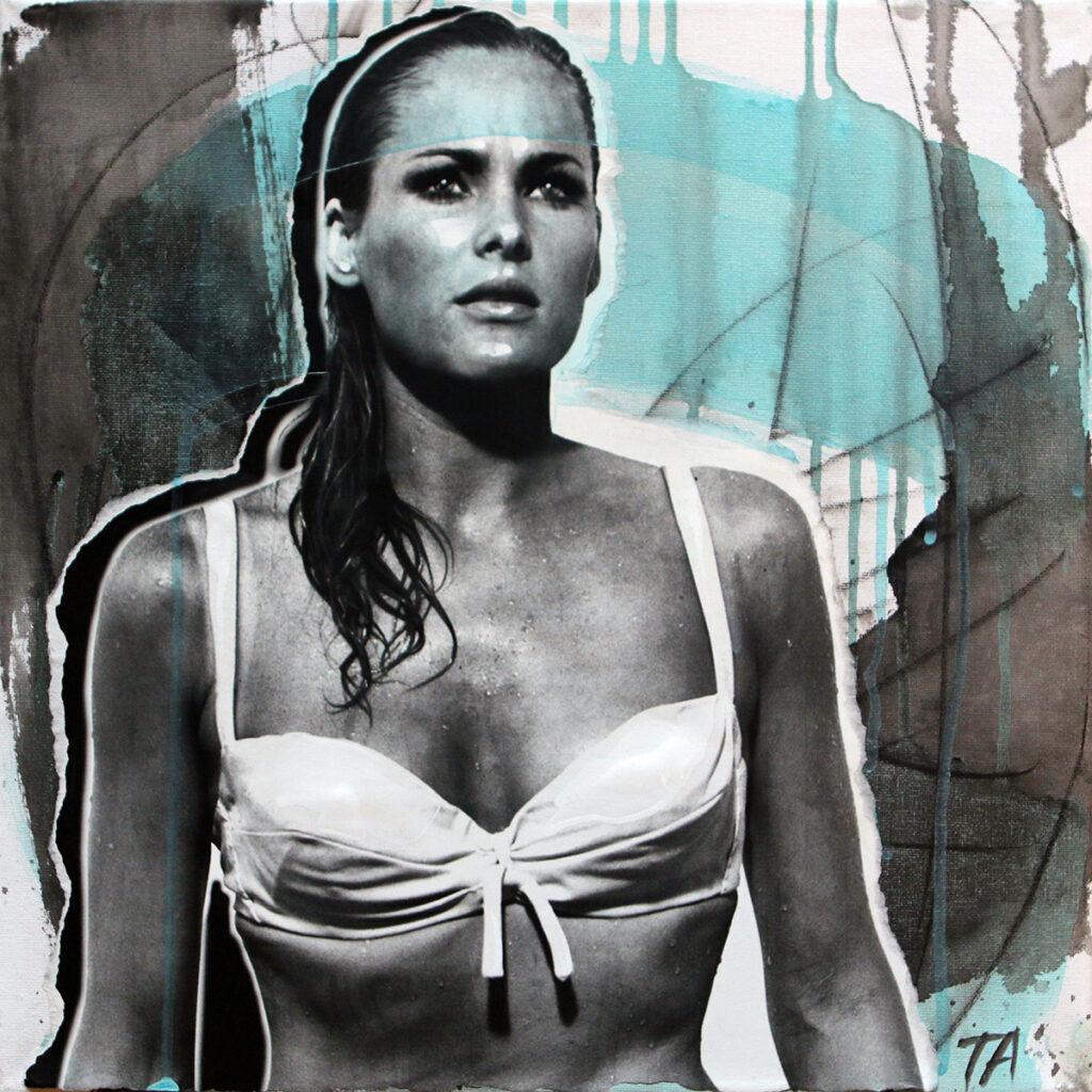 Foto af Terese Andersen Painting 40x40cm Dr No Ursula Andress 2