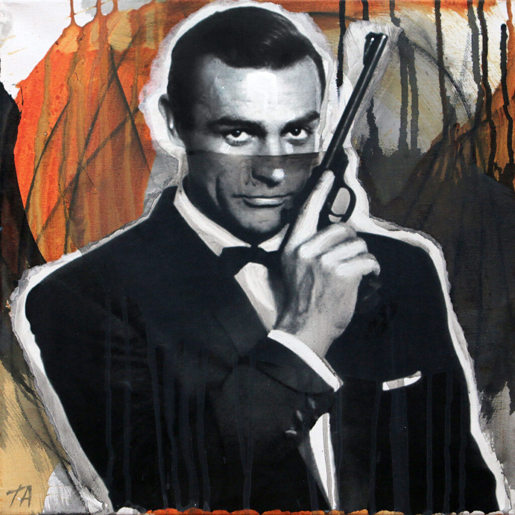 Foto af Terese Andersen Painting 40x40cm Sean Connery From Russia With Love 2