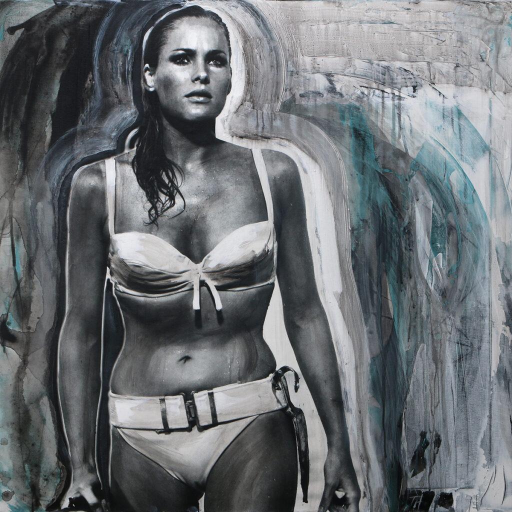 Foto af Terese Andersen Painting 80x80cm Dr No Ursula Andress 3