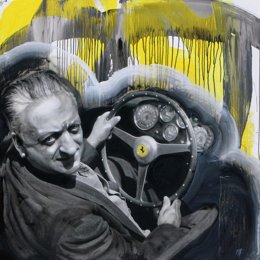 Foto af Terese Andersen Painting 130x130cm Enzo Ferrari 1