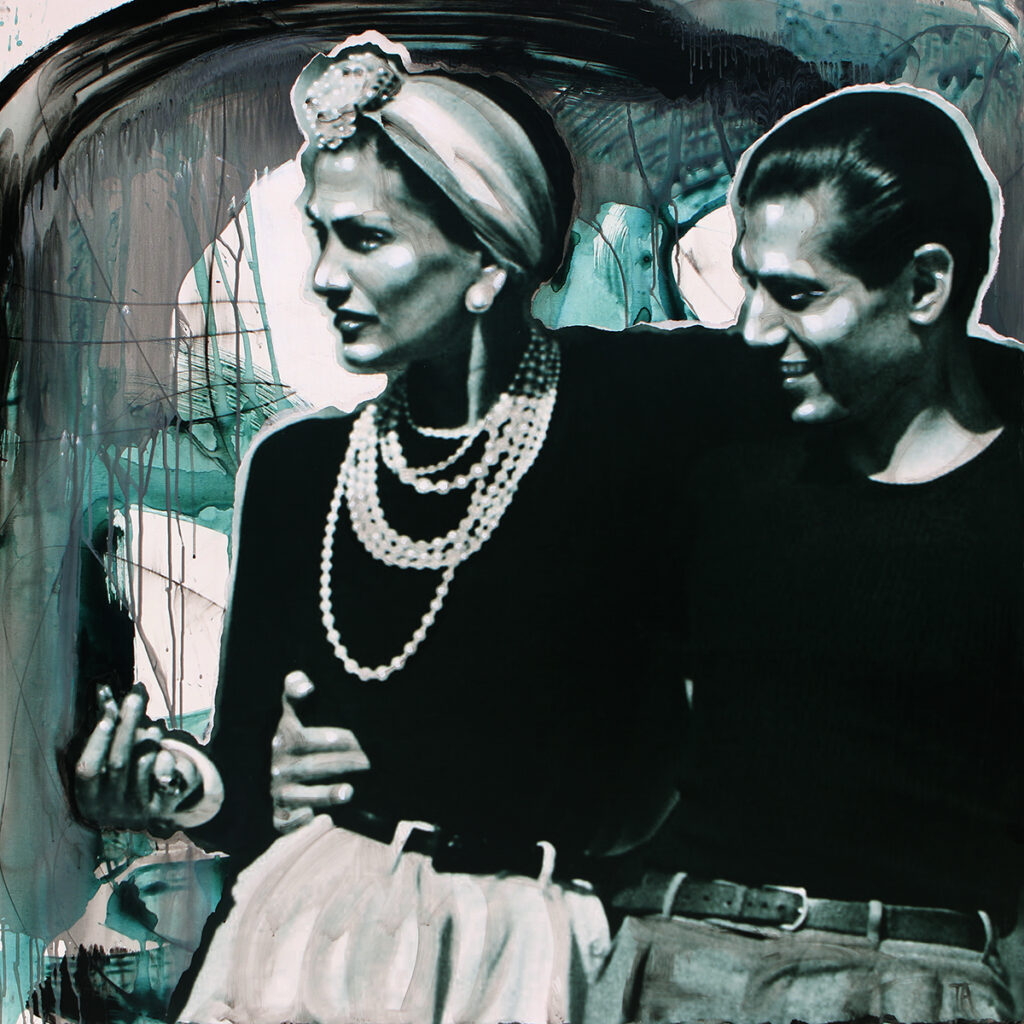 Foto af Terese Andersen Painting 130x130cm Coco Chanel & Serge Lifar 1