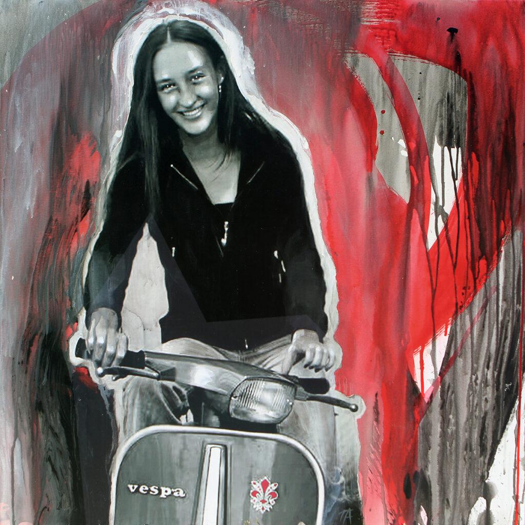 Foto af Terese Andersen Painting 80x80cm Matilde