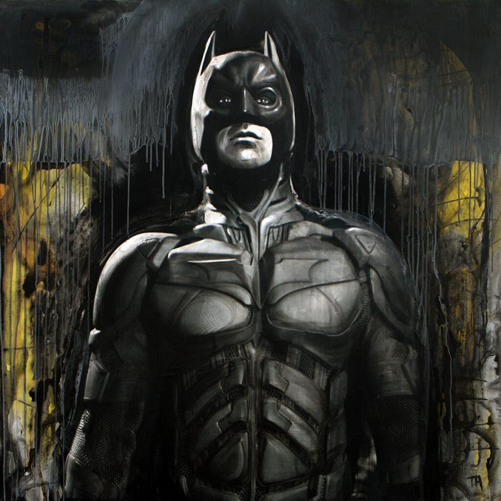 Foto af Terese Andersen Painting 130x130cm Batman 1