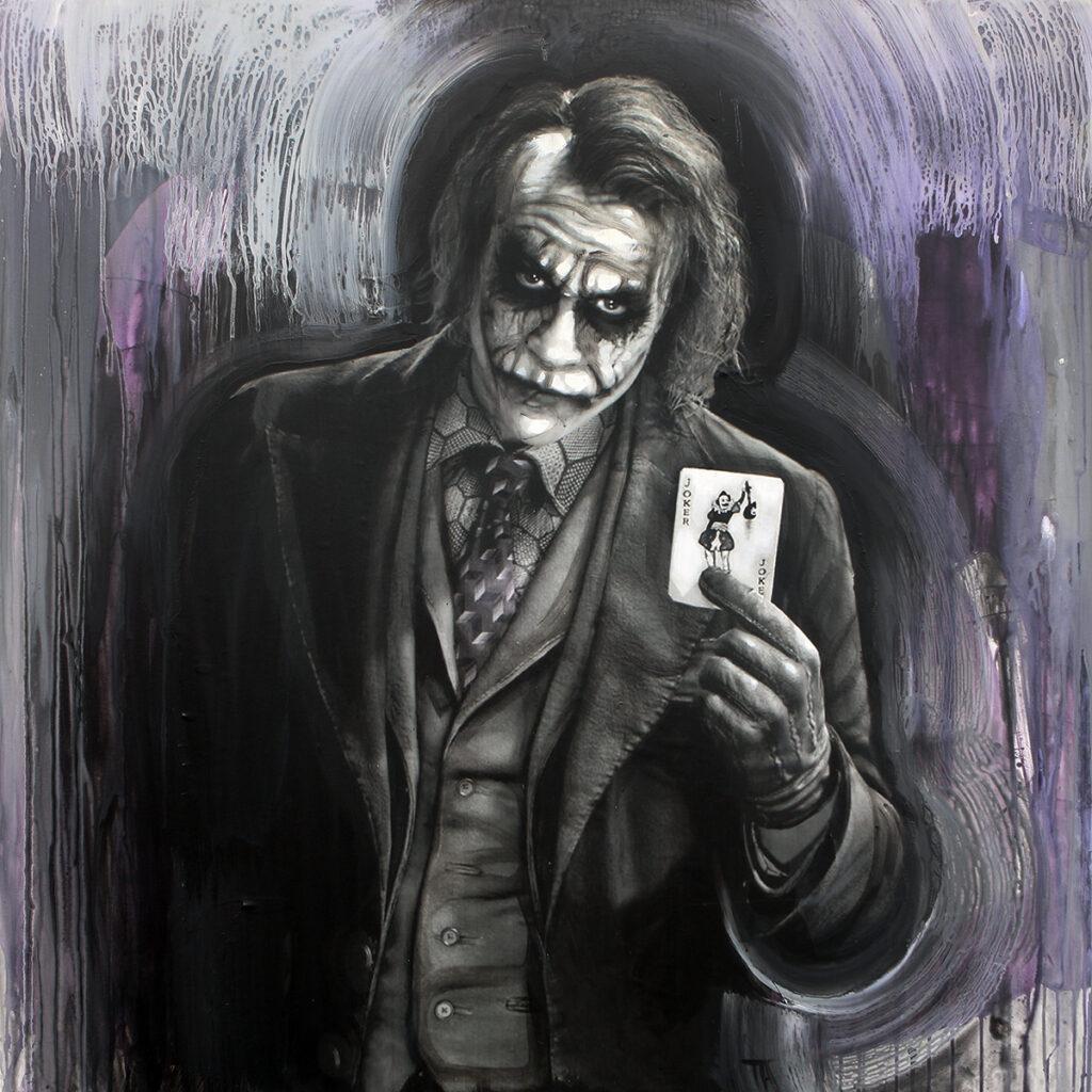 Foto af Terese Andersen Painting 130x130cm Joker 1