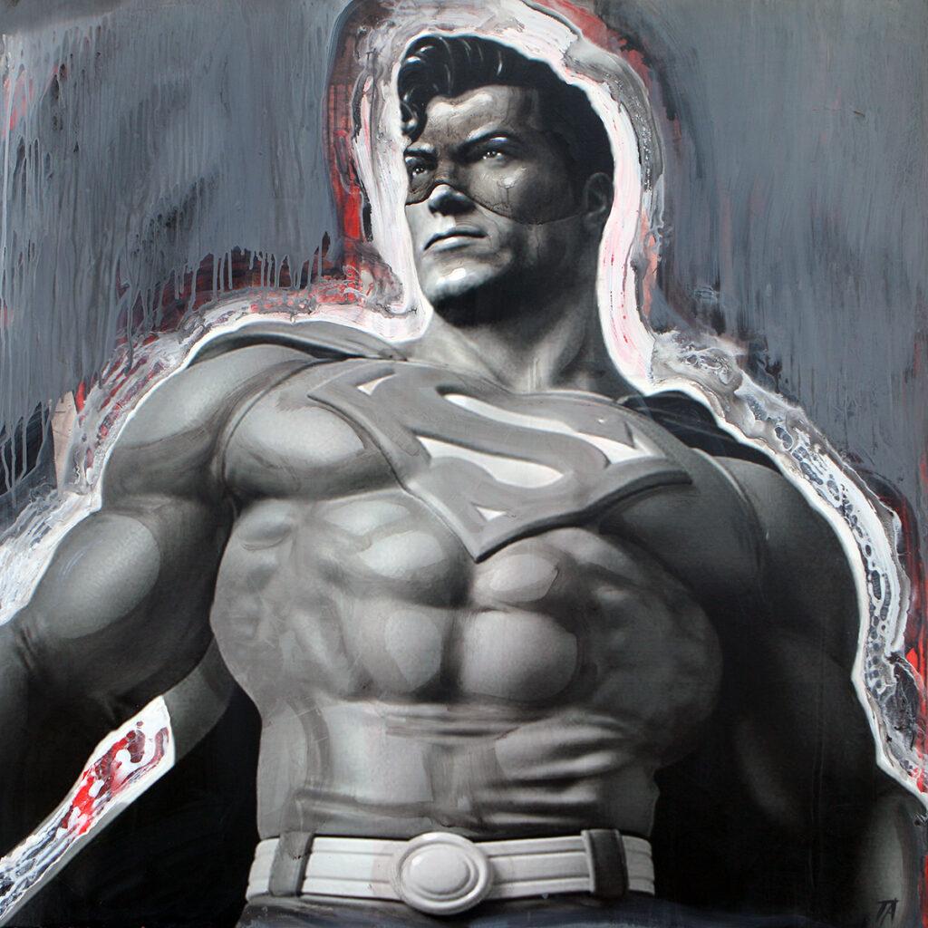 Foto af Terese Andersen Painting 130x130cm Superman 1